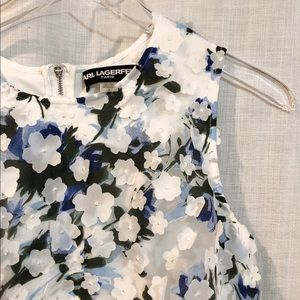 Karl Lagerfeld / floral appliqué dress